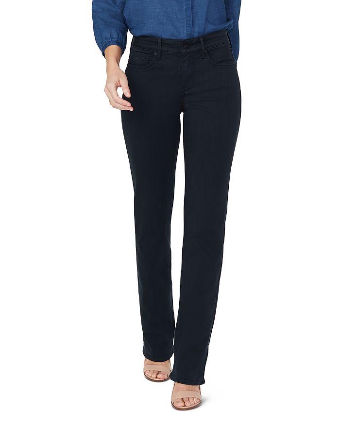NYDJ - Marilyn Straight-Leg Sateen Jeans in Black