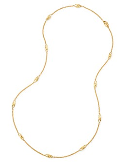 "Marco Bicego - 18K Yellow Gold Lucia Long Station Necklace, 36"" - 100% Exclusive"