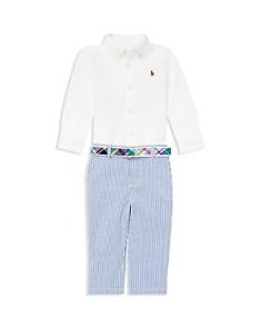 Ralph Lauren - Boys' Shirt, Belt & Pants Set - Baby