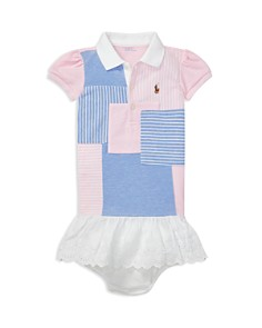 Ralph Lauren - Girls' Patchwork Polo Dress & Bloomers Set - Baby