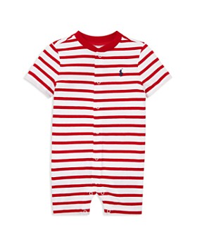 Ralph Lauren - Boys' Striped Cotton Jersey Shortall - Baby