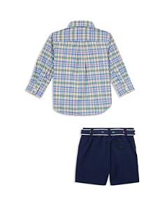 Ralph Lauren - Boys' Plaid Shirt, Belt & Short Set - Baby