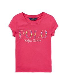 Ralph Lauren - Girls' Floral-Polo Logo Tee - Little Kid
