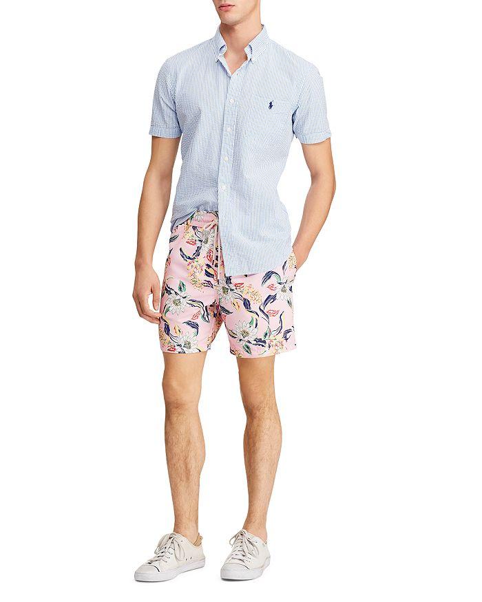 299a3592d2 Polo Ralph Lauren Traveler Lotus-Print Swim Trunks | Bloomingdale's
