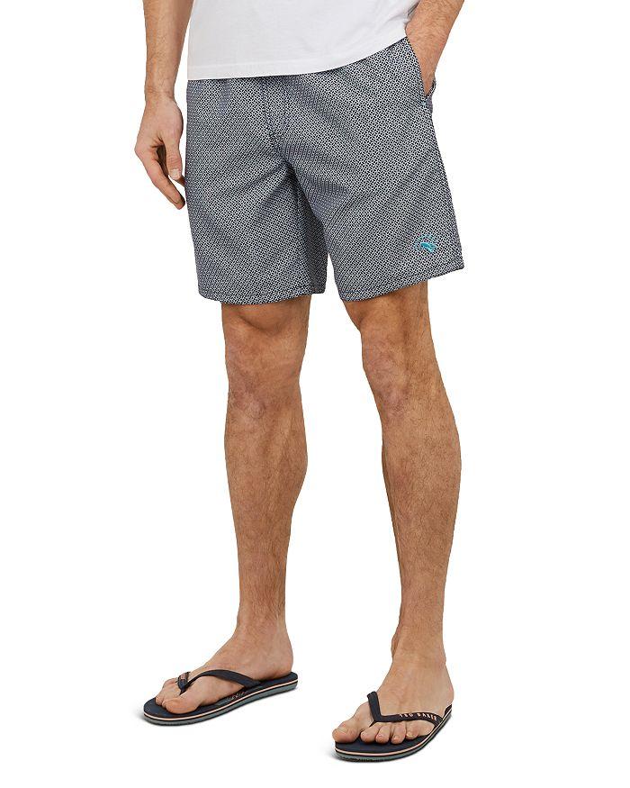 3d9fbb811b Ted Baker Alantic Geo Print Midi Swim Shorts | Bloomingdale's