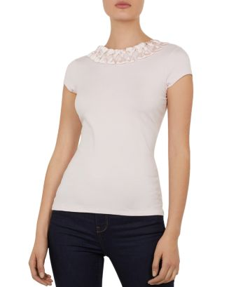 Charre Bow Trimmed Tee by Ted Baker