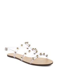 SCHUTZ - Women's Yarin Studded Flat Sandals