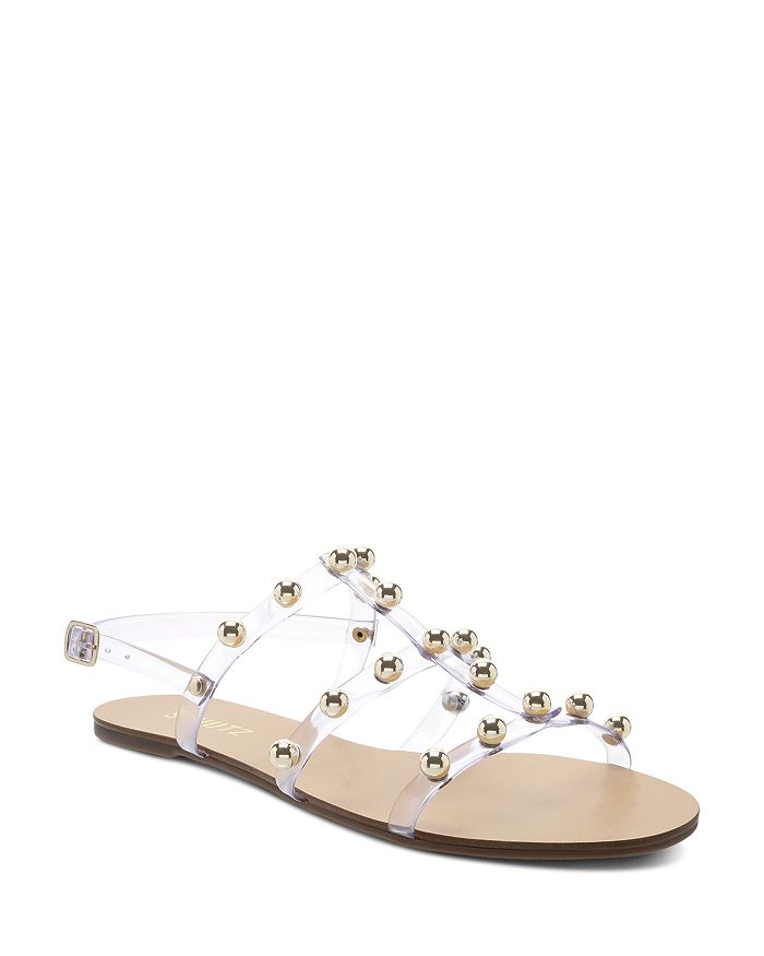 SCHUTZ - Women's Yarin Studded Flat Sandals