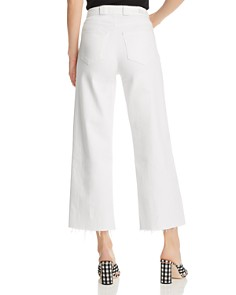 PAIGE - Nellie Crop Wide Leg Utility Jeans in Crisp White
