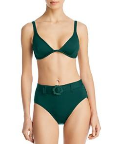 kate spade new york - Bralette Underwire Bikini Top & Daisy Buckle High-Waist Bikini Bottom