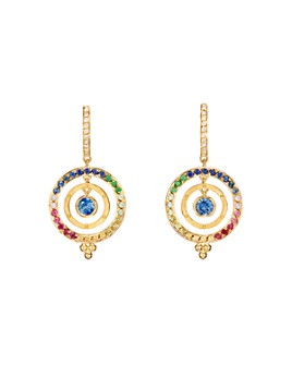 Temple St. Clair - 18K Yellow Gold Celestial Piccolo Tolomeo Diamond & Rainbow Gemstone Earrings