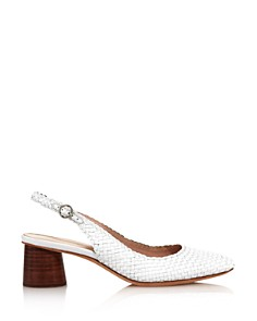 Loeffler Randall - Women's Martine Woven Leather Slingback Pumps