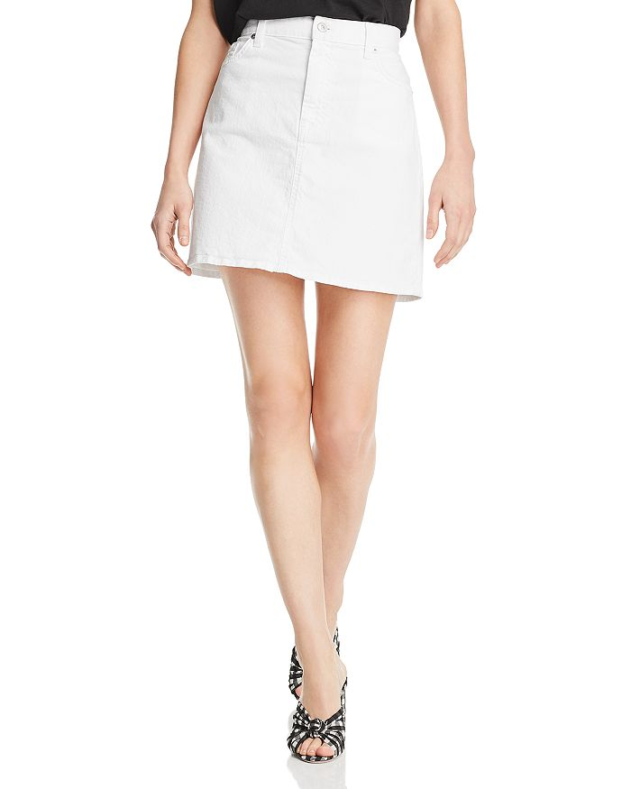 7 For All Mankind - Denim Mini Skirt in White Runway Denim