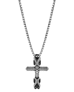 JOHN HARDY - Sterling Silver Classic Chain Cross Pendant Necklace, 24""