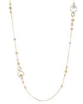 "JOHN HARDY - 18K Yellow Gold Dot Pavé Diamond Sautoir Chain Necklace, 36"""