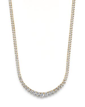 Bloomingdale's Diamond Tennis Necklace in 14K Yellow Gold, 10.0 ct. t.w. - 100% Exclusive