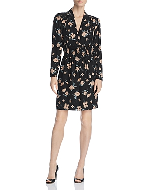 Rebecca Taylor Dresses DANIELLA SMOCKED FLORAL PRINT DRESS