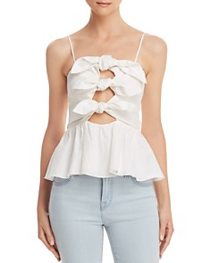 Rebecca Taylor - Tie-Front Bow Camisole Top