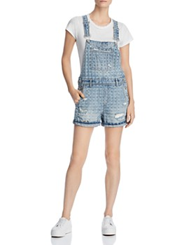 604eee1ddca30 BLANKNYC - Distressed Denim Shortalls in Punch Line ...