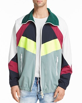 DSQUARED2 - Color-Block Mixed-Media Sports Jacket