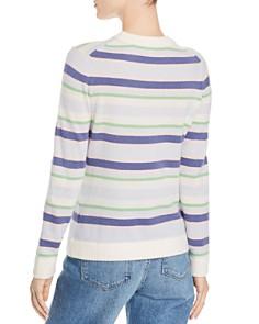 Minnie Rose - Striped Cashmere Sweater