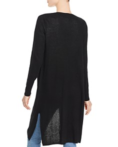Minnie Rose - Long Open-Front Cashmere Cardigan