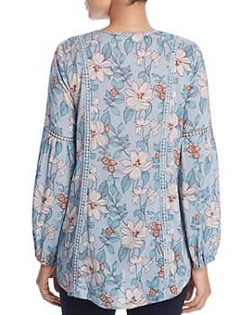 Cupio - Floral Print Peasant Blouse