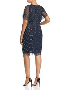 Adrianna Papell Plus - Beaded Flutter-Sleeve Dress