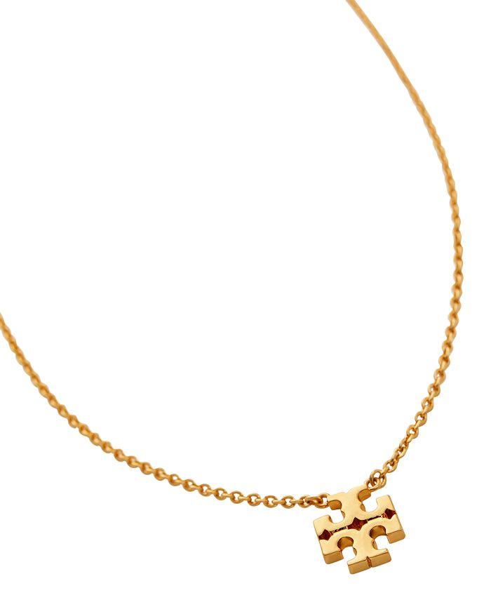 "Tory Burch - Logo Charm Necklace, 14"""