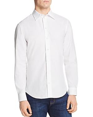 Armani Collezioni T-shirts EMPORIO ARMANI PATTERNED CLASSIC FIT SPORT SHIRT