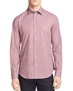 Armani - Floral Patterned Classic Fit Sport Shirt