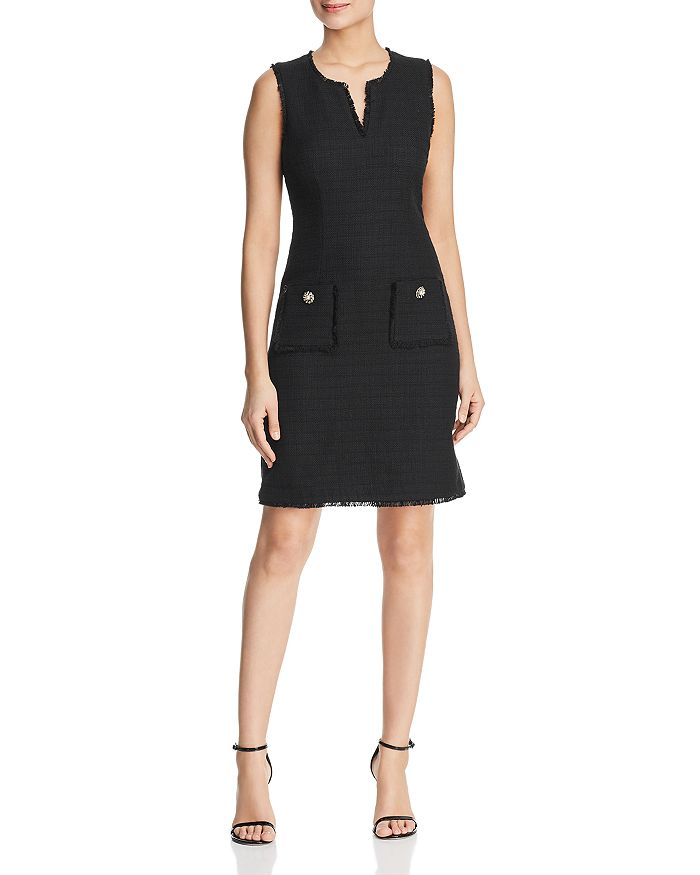 KARL LAGERFELD PARIS - Tonal Tweed Pocket Dress