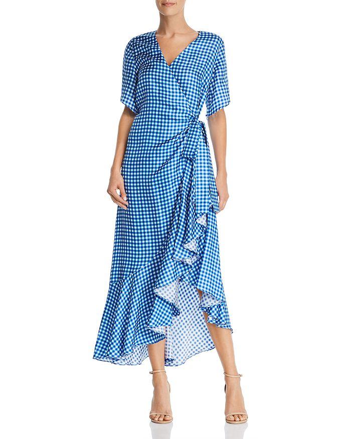 Paper London - Colorado Gingham Silk Wrap Dress