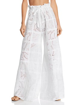 Paper London - Curacao Eyelet Wide-Leg Pants