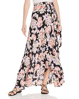 da6411fdb89 Band of Gypsies - Seville Floral Wrap Maxi Skirt ...