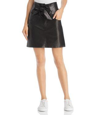 Rebecca Minkoff Callie Leather Mini Skirt
