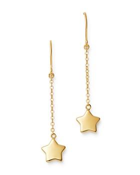 Bloomingdale's - Falling Star Drop Earrings in 14K Yellow Gold - 100% Exclusive