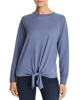 Alison Andrews - Tie Front Sweatshirt
