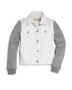 BLANKNYC - Girls' Denim & Jersey Trucker Jacket - Big Kid