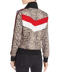 PAM & GELA - Snake-Print Track Jacket