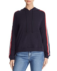 Velvet by Graham & Spencer - McKenna Striped Sleeve Hoodie