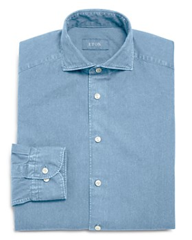 Eton - Soft Chambray Solid Slim Fit Dress Shirt