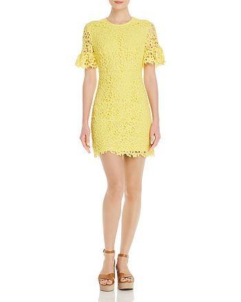 AQUA - Short-Sleeve Floral-Lace Dress - 100% Exclusive