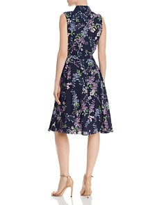 nanette Nanette Lepore - Floral Pintuck-Detail Dress