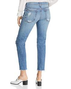 rag & bone/JEAN - Cropped Distressed Boyfriend Jeans in Marie Hole