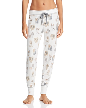 Pj Salvage Tops DOG-PRINT JOGGERS
