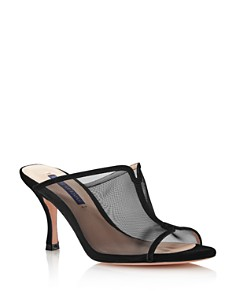 Stuart Weitzman - Women's Mya 75 Open-Toe Mesh High-Heel Sandals