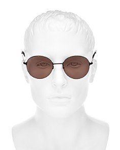 Balenciaga - Men's Rimless Round Sunglasses, 58mm