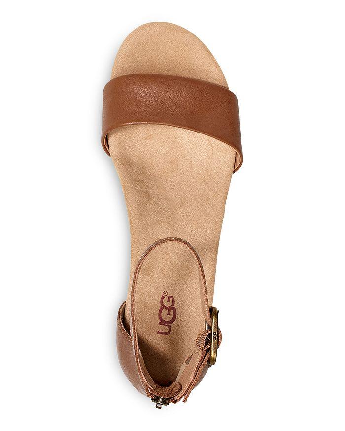 3b7de05f672b UGG® Women s Zoe II Leather Cork Wedge Ankle Strap Sandals ...