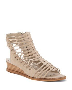 VINCE CAMUTO - Women's Romera Nubuck Leather Strappy Sandals